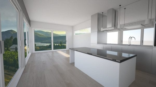 Built Prefab Modular Homes Dakota Kitchen Rendering