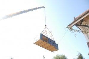 Built Prefab Modular Homes Crane Photo