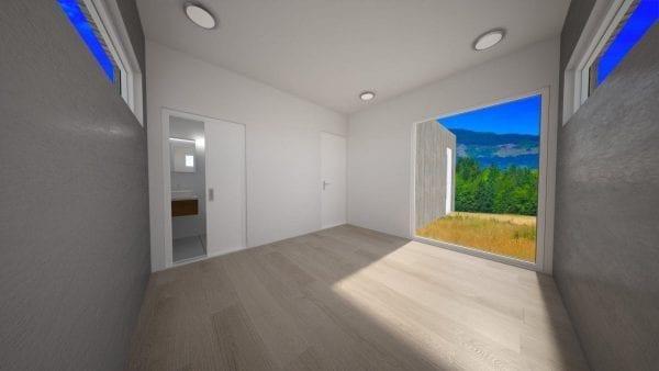 Built Prefab Holiday Modular Home Bedroom Rendering