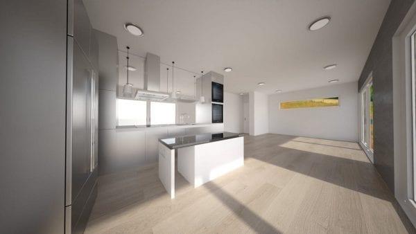 Built Prefab Modular Homes Holiday Rendering