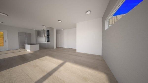 Built Prefab Holiday Modular Home Main Floor Rendering