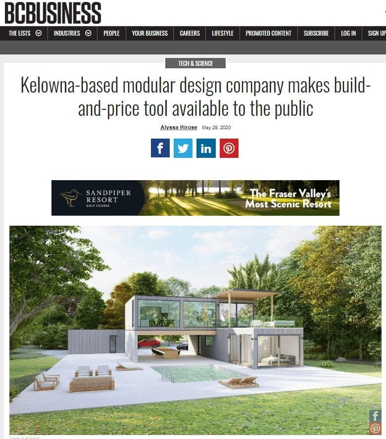 Built Prefab in the News, More on the ALR | Kelowna, BC | Built Prefab